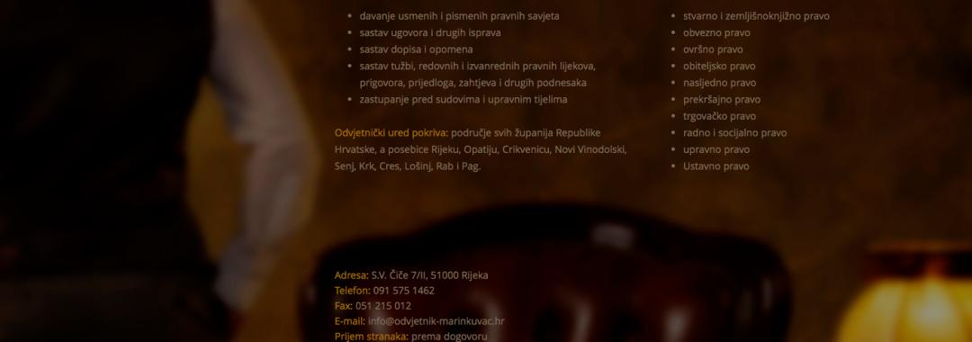 Izrada web stranica za odvetnike