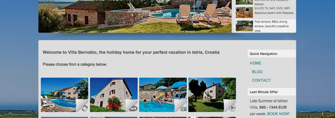 Izrada web stranica za iznajmljivače i turizam